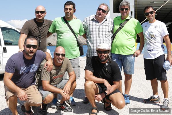 The Cosmote team: Nikos Zafiropoulos, Giannis Kritsiotalakis, Giorgos Zannos, Giannis Makridis, Alkis Froutzos, with Thanasios Chronopoulos & Alexander Sotiriou